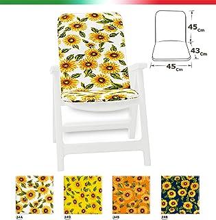 TXYFYP Giardino Reclinabile Cuscini Arancione Panchine Giardino Esterno Universale Cotone Pad Tempo Libero Cuscini per Sole Sedie a Sdraio Free Size