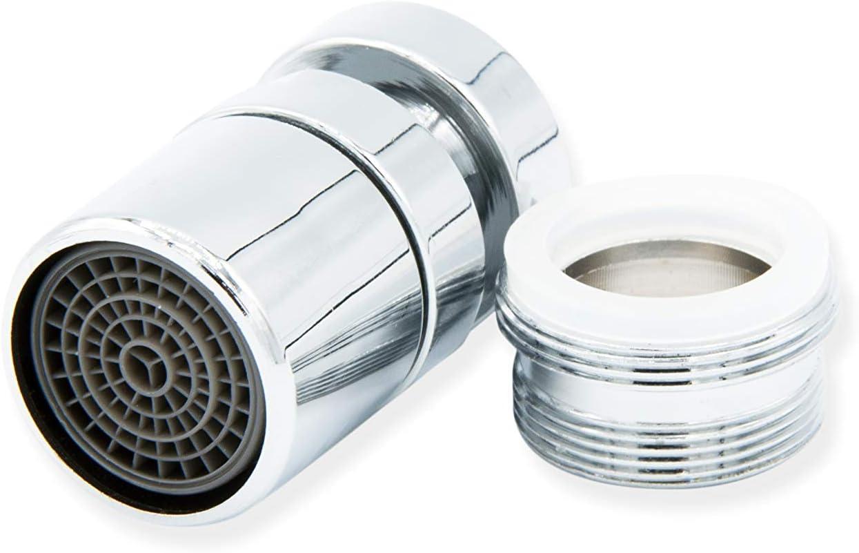 Aireador para Grifo de Cocina, Baño, fregadero - Ahorro de agua - Atomizador difusor de grifo - Hembra H22-1 Modo de flujo de agua (Adaptador macho M24)