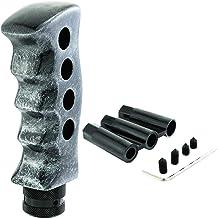 White 6 Speed Shift Pattern - Gas 26 Black Metal Flake with M16 x 1.5 Insert American Shifter 279251 Shift Knob