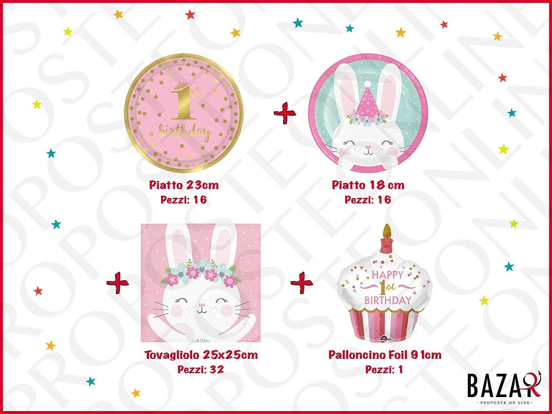 Primo Compleanno Kit per Festa e Party Festa per Bambini Compleanno 1 Anno 4050