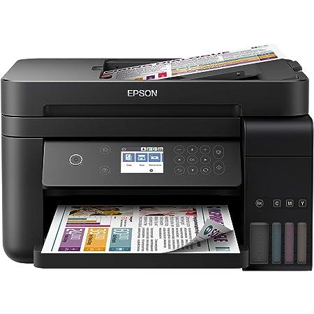Epson Imprimante EcoTank ET-3750 avec réservoirs, Multifonction 3-en-1: Imprimante recto verso/ Scanner / Copieur, A4, Chargeur, Jet d'encre couleur, Wifi Direct, Ethernet, Ecran, Faible coût par page