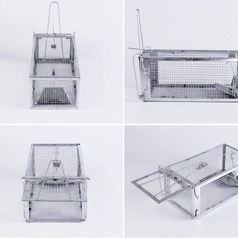 Trampa para ratones granja 27,5 x 15 x 12 cm hotel Winthai oficina una sola puerta restaurante jaula con disparador sensible para casa ratas ratas garaje. patio roedores