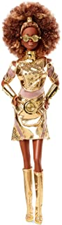Barbie Collector Star Wars C-3PO x Barbie Doll (~12-inch) in Gold Fashion and Accessories, with Doll Stand and Certificate...