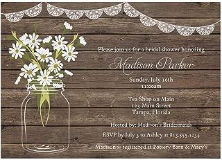 rustic daisy wedding invitations