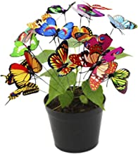 FLORO Butterfly Stakes, 10x2.75 Inches, Multicolored 3D Wings That Push Open or Close, Waterproof Butterflies for Flower Bed, Long Bendable Stick to Decorate Flower Pots or Patio, 30 Pack