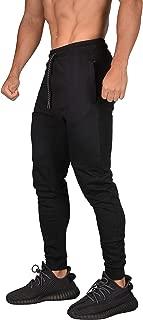 Mens Joggers Pants Slim Sweatpants Training Gym Fitness Zippered Pockets 217
