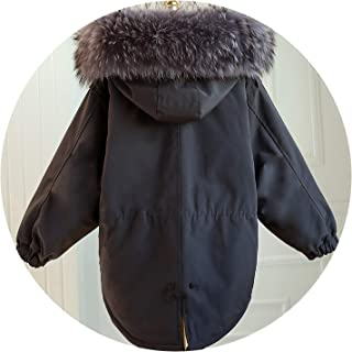 2019 New Winter Women Down Jacket Super Large Real Raccoon Fur Collar Down Cotton Coat
