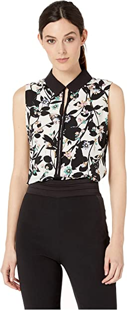 Printed Collared Woven Top