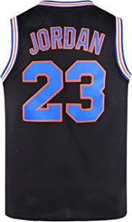 WELETION 2017 Space Moive Men Size Jersey Basketball Game Jersey - #23 Black/White/Blue