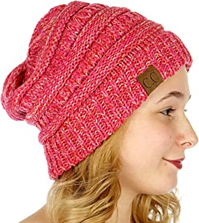 445ae9485ae7e1 Unisex 4 Tone Multicolor Warm Cable Knit Thick Beanie Hat