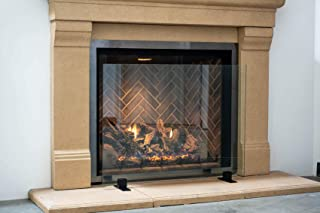 Best glass fireplace screen base Reviews