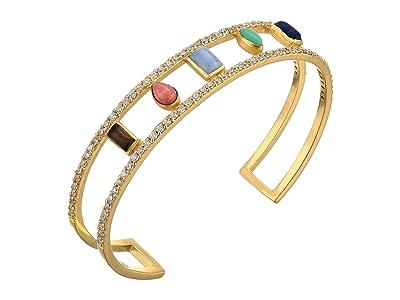 SOLE / SOCIETY Small Cuff (12K Soft Polish Gold/Multicolor) Bracelet