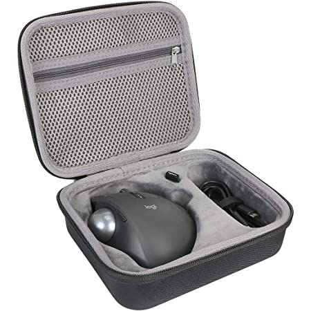 Logicool ロジクール MX ERGO MXTB1s bluetooth ワイヤレス トラックボール スーパー便利な ハードケースバッグ 専用旅行収納 対応 co2CREA (Size L)