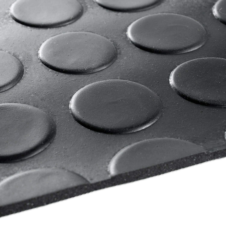 Alfombra antideslizante de goma para cubrir el suelo color negro varios tama/ños resistente