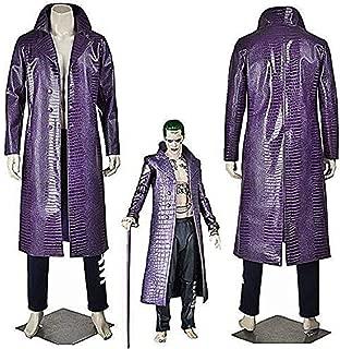 Men's Purple Leather Coat Jacket