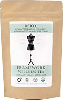 Certified Organic Gentle Detox Tea for Women –Reduce Free Radicals with Mighty Antioxidants | Delicious Whole Leaf Rooibos Herbal Tea Blend with Tasting Notes of Berry and Citrus