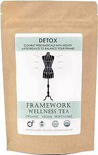 Framework Wellness Tea – USDA Certified Organic – Detox Blend, 14 Sachet Count – 2 Week Supply – Vegan, Non-GMO, Biodegradable Packaging – Premium Blend of Rooibos, Currants, and Orange