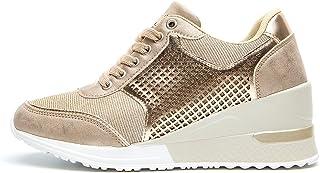 Sneakers con Zeppa Stringate Donna Tacco Alto per - Scarpe da Ginnastica con Zeppa Donna, la Scelta Migliore per l'uso Quo...