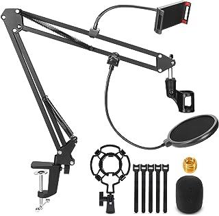 Microphone Stand, Magicfun Mic Boom Arm Desk Adjustable...