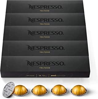 Nespresso Capsules VertuoLine, Voltesso , Mild Roast Espresso Coffee, 50 Count Coffee Pods, Brews 1.35oz