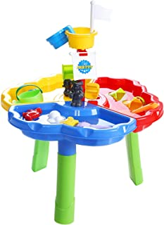Keezi Kids Sand and Water Table Outdoor Beach Childrens Toys