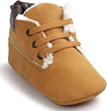 Lookatool Baby Soft Warm Sole Leather Shoes Infant Boy Girl Toddler Shoes (US:4, Brown)