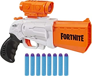 NERF Fortnite SR Blaster — 4-Dart Hammer Action — Includes Removable Scope..