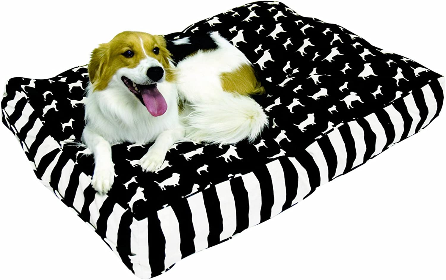 Happy Hounds Buster Medium 30 by 42Inch Dog Bed, Black White