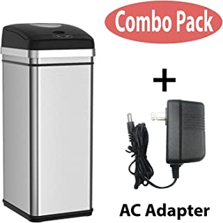 Halo 13 Gallon Touchless Trash Compactor Automatic Trash Can, Stainless Steel Sensor Kitchen Trash Can with Deodorizer - Use Fewer Trash Bags