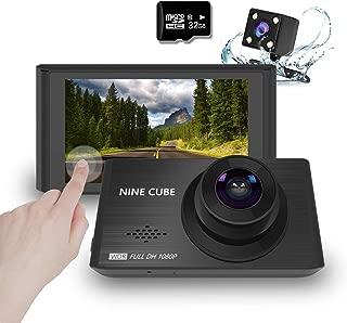 【進化版32Gカード付き】NINE CUBE ドライブレコーダー前後カメラ 1080PフルHD高画質 3インチIPSタッチスクリーン WDR 防犯カメラ 170°広視野角 逆転自動レンズ切り替 駐車監視 動体検知G-sensor機能 循環記録 緊急録画 日本語説明書 12ヶ月保証付