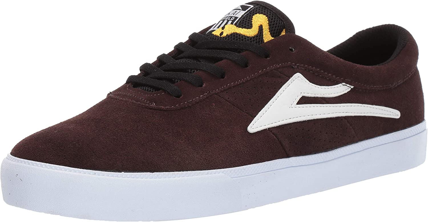Lakai Footwear Sheffield Simon Chocolate Suedesize Tennis shoes, Chocolate Suede