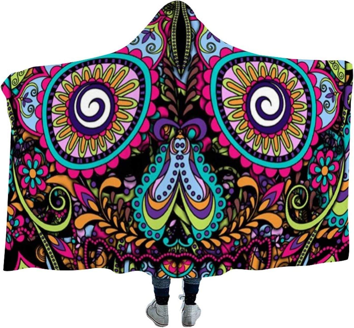 Super Soft Hooded It is very popular Blanket Día De Skull for Kids Calaveras Sale SALE% OFF Sugar