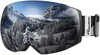 OutdoorMaster Skidglasögon Pro för kvinnor och män, snowboardglasögon med magnetiskt bytessystem, hjälmkompatibel snöglasö...