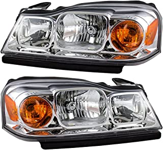 Headlights Headlamps Driver and Passenger Replacements for 06-07 Saturn Vue 15877671 15877672