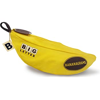 Big Letter BANANAGRAMS: Family Word Game With Easy To See And Handle Letter Tiles