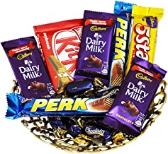 SFU E Com Chocolate Hamper with Lovely Tray | Gift for Holi, Rakhi, Diwali, Anniversary, Birthday, Christmas, Valentine, Her, Him | Assorted Chocolate Gift | 001