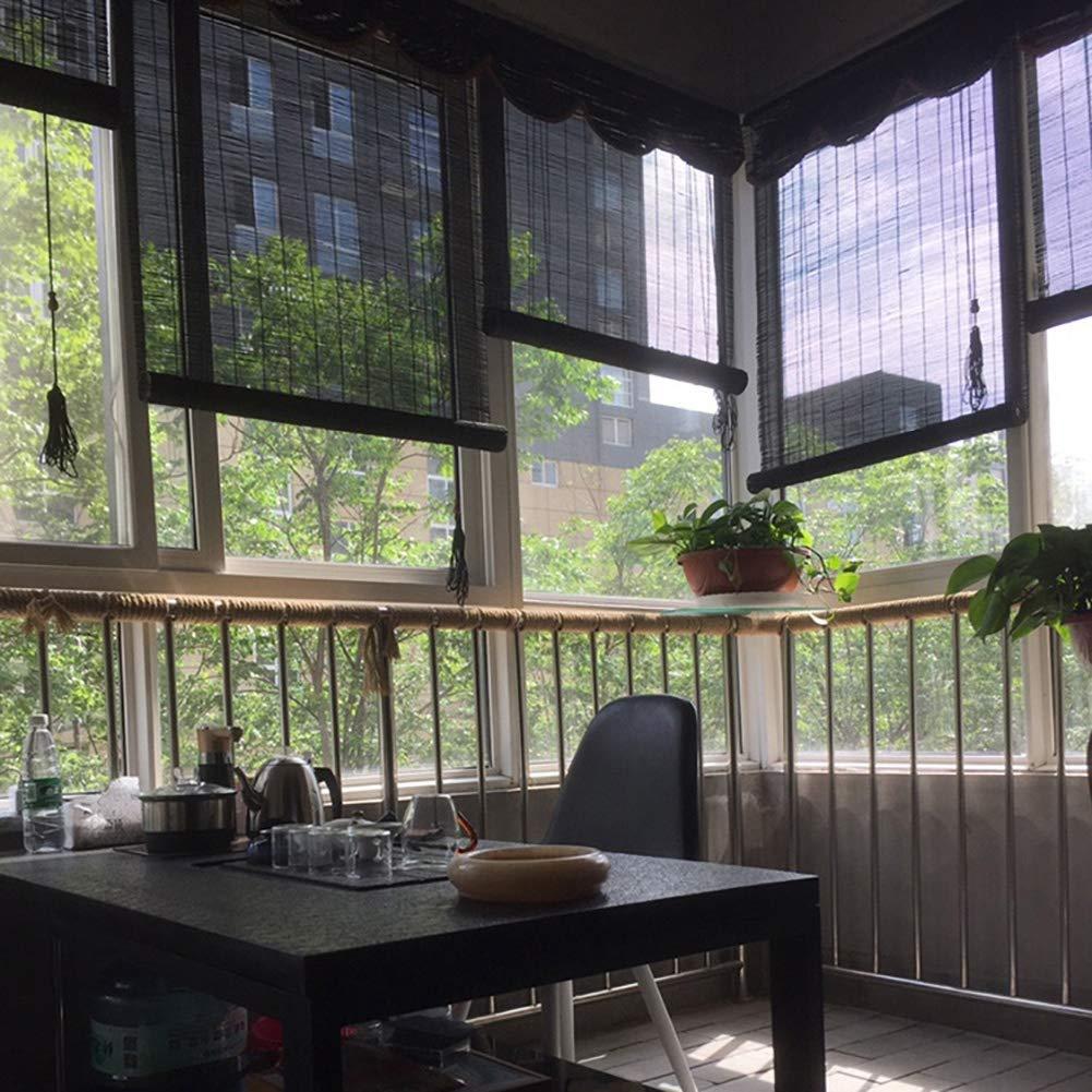 FF Estores enrollables Persianas Opacas Verticales con Cenefa, persianas venecianas de Madera Negra para el Patio de la pérgola con balcón, 60/80/100/120/130/140 cm de Ancho (Size : 130×180cm): Amazon.es: Hogar
