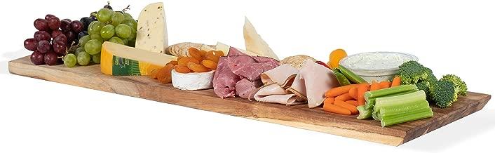 Wall Mountable Rectangular Charcuterie Cheese Serving Board and Decor Original Acacia Wood