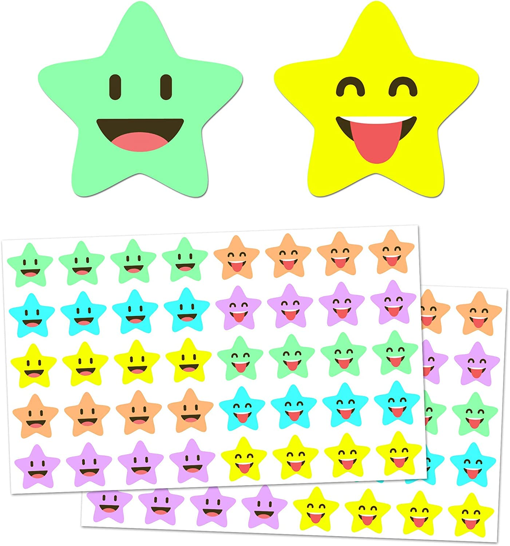 5 ☆ popular 1000 Pack Happy Star Reward Stickers 4