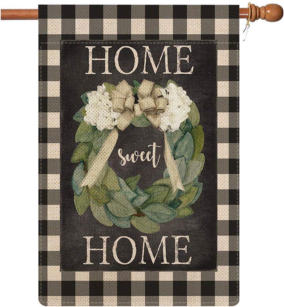 COSKAKA Magnolia Wreath House Flag Welcome Popular overseas Sale Sweet Home Garde