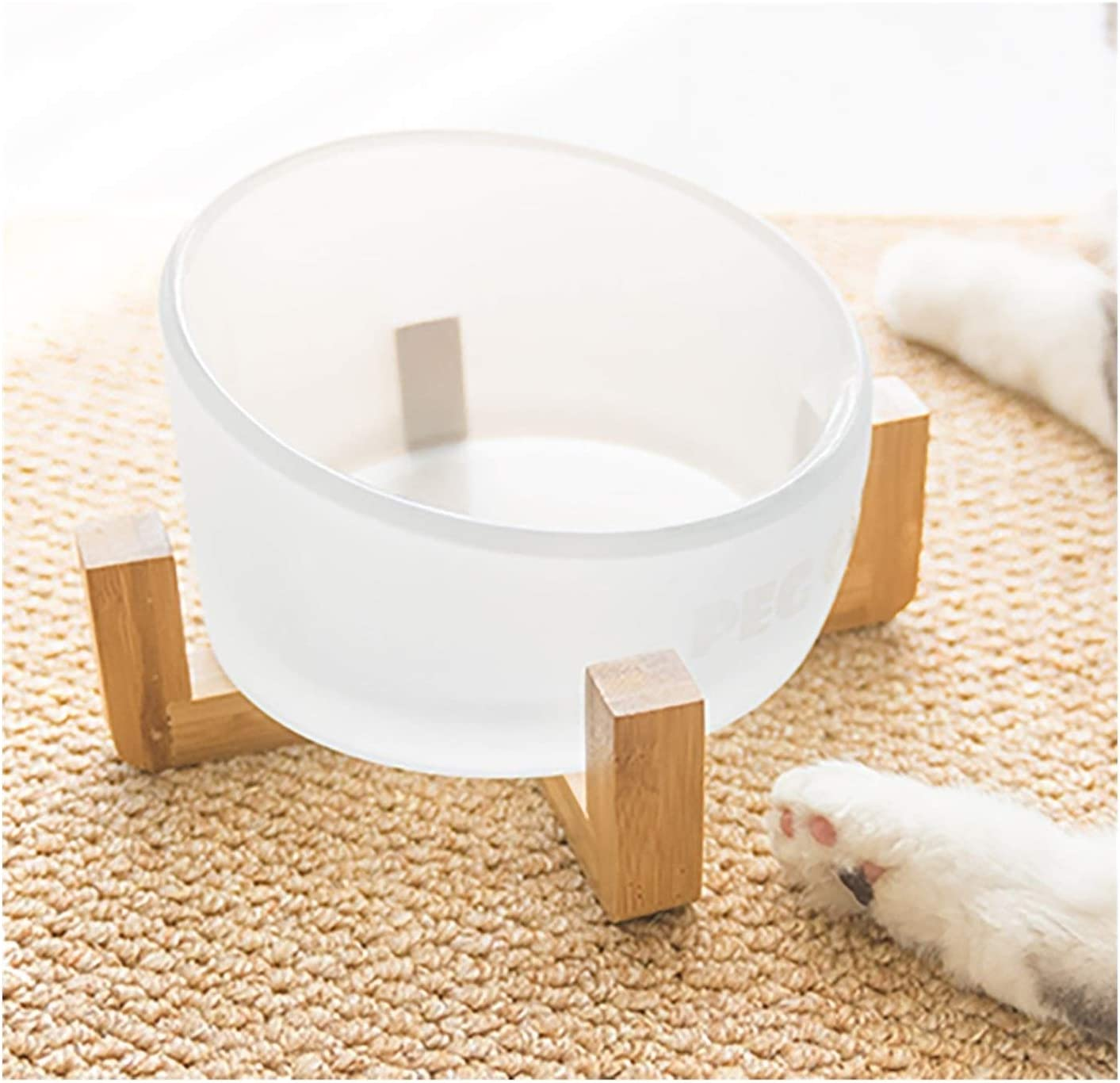 Fashion Dogs Bowl Cats Water Pet Wood Food Safety and Regular store trust Feeder Feeding T