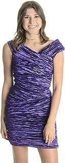 Collection Women's Techo Metal Sheath Dress in Purple Size 6