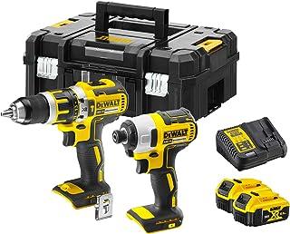 Dewalt® 18V Combo Kit Cordless Drill & Impact Driver 2x Batteries Charger & Case