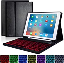 BAIKEN iPad 9.7 Keyboard Case with Pencil Holder for iPad 2018/6th Gen -iPad 2017/5th Gen -iPad Pro 9.7 -iPad Air 2&1 -Bluetooth Removable Keyboard-iPad Case with Backlit Keyboard