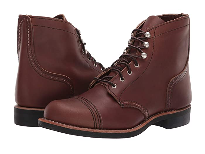 Vintage Boots- Winter Rain and Snow Boots History Red Wing Heritage Iron Ranger Amber Harness Womens Lace-up Boots $320.00 AT vintagedancer.com