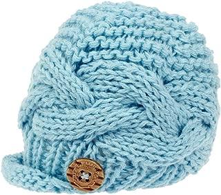 Handknit Baby Boy knit Brimmed Newborn Photography Hat Cap