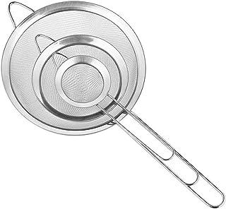Cymax Juego de 3 Malla Fina Cocina Colador Profesional 7/12/