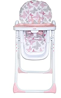 My Babiie Believe by Katie Piper USHC8BU Pink Buterflies Premium Highchair