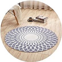 Area Rugs Round Floor Mat Nursery Rugs Modern Minimalist Nordic Style Living Room Sofa Bedroom Coffee Table Mat Blended Ma...