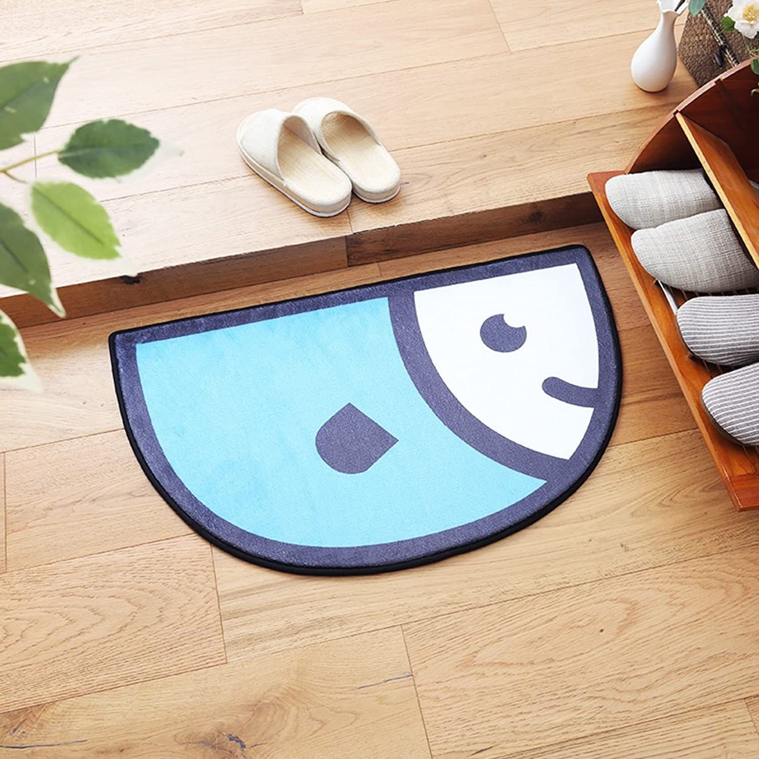 LRW Mat Bedroom Door Mat Cartoon Half Hall Bathroom Door Pad Toilet Bathroom Mat (color   C)